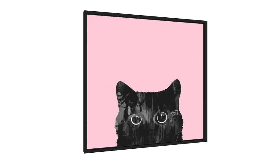 Quadro Gato negro - Galeria9, por Vitor Costa