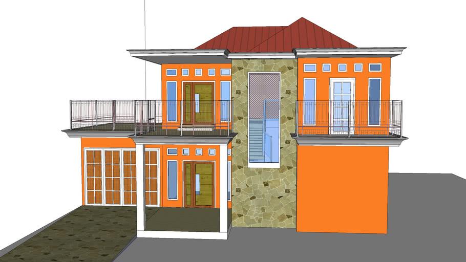 Rumah Modern Minimalis 2 Lantai 3d Warehouse