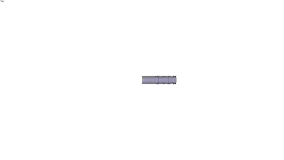 3622 - PLUG-IN BARBED CONNECTOR DIAM D1 12 MM DIAM D2 125 MM DIAM D3 145 MM