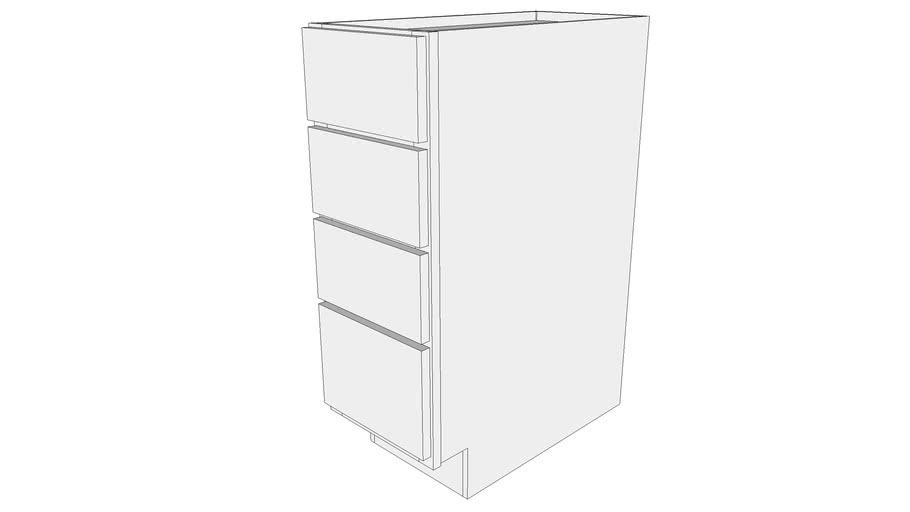 Glenwood Base Cabinet 4DB12 - Four Drawer
