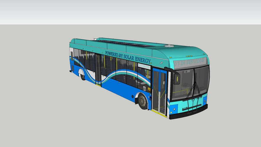 solar energy city bus