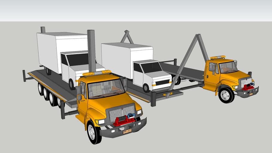 truck transport crane & vehicle