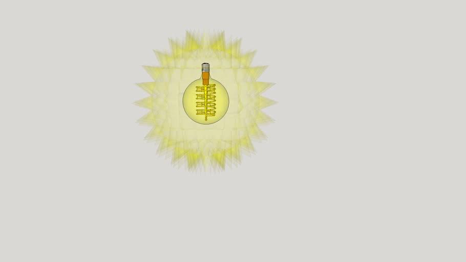 Burning light bulb