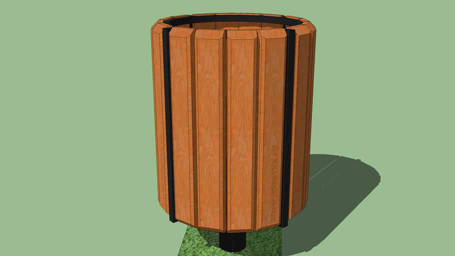 "street trashcan trash can ""Radius""  /  Урна уличная ""Радиус"""