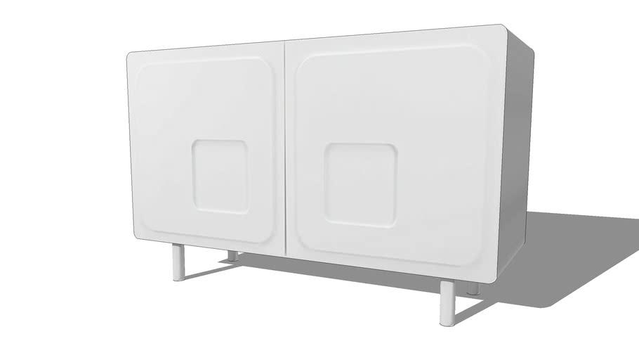 Twiggy Buffet 2 portes blanc REF 166082 PRIX 199.00€