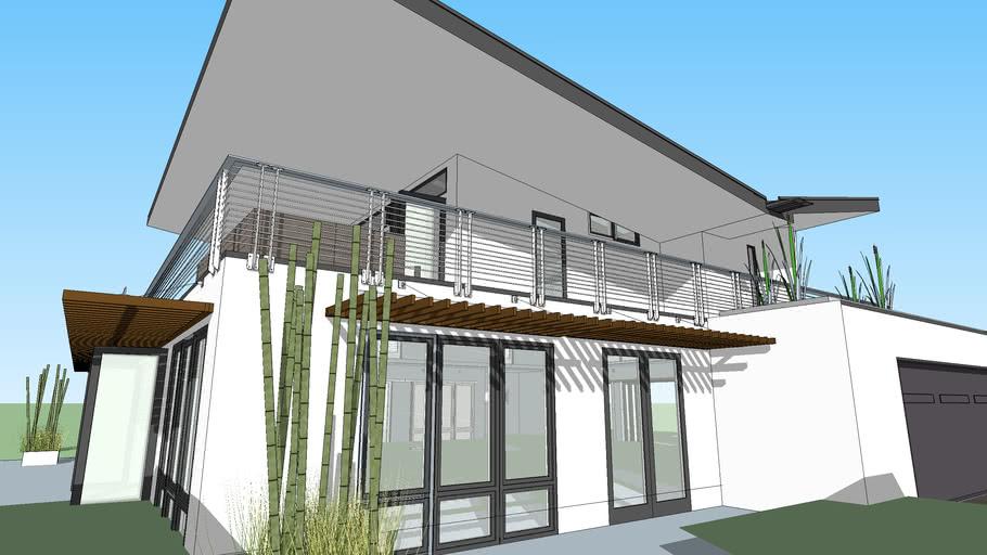 Butterfly Roof Villa House 3d Warehouse