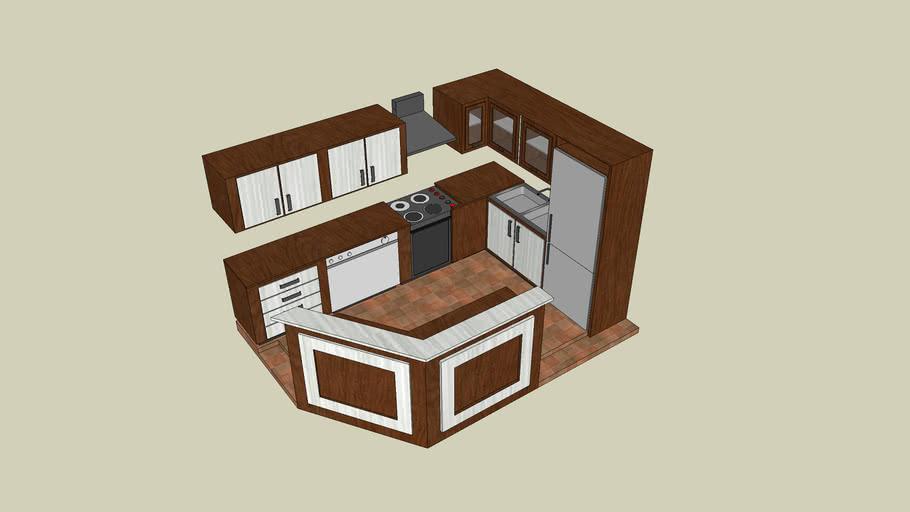 Built-in corner kitchen