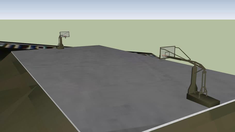 Kemah Meslek Yüksekokulu Basketbol sahası