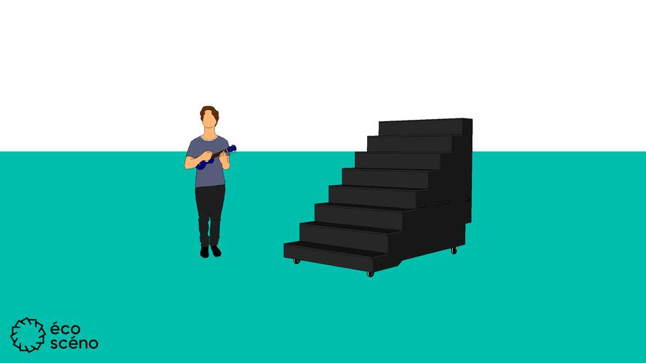 Escalier sur roulettes