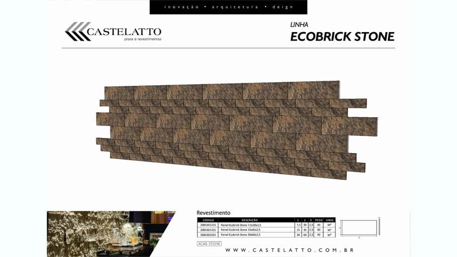 Revestimento ecobrick stone