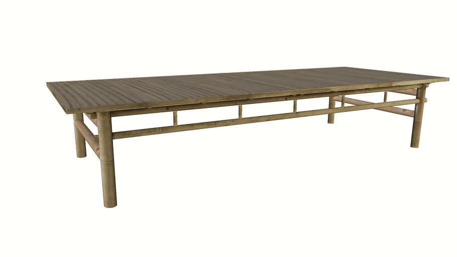 Bambus lounge table, 70x170xH35 cm