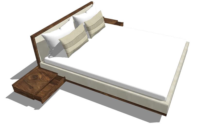 GROWN WOOD-SIMILI BED