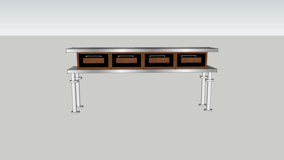 Double Counters w/Drawers
