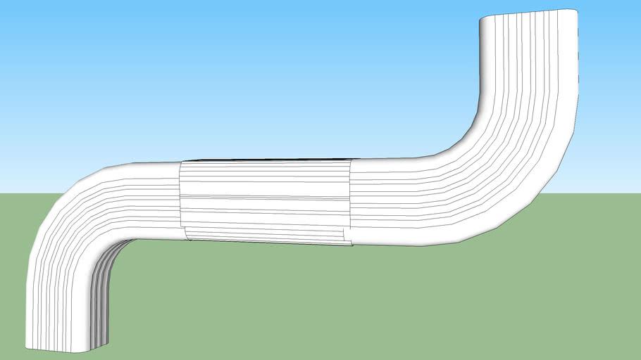 rain gutter curve