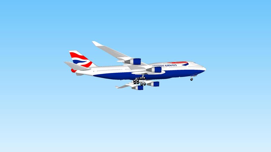British Airways Boeing 747-400 landing at Orlando, USA