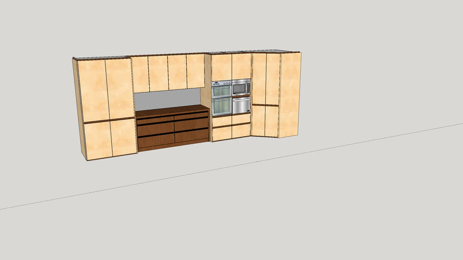 Kitchen wall units rendered