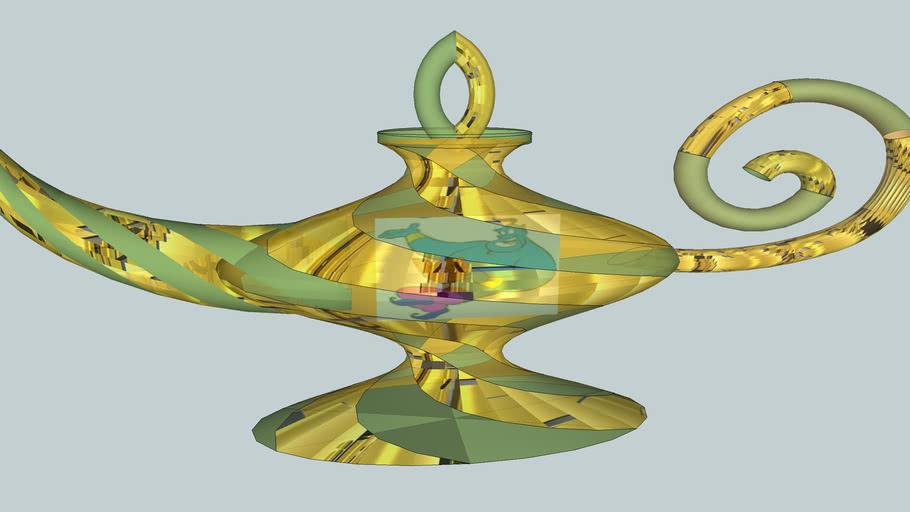 Genie in Aladdin Lamp