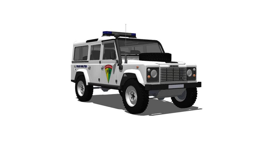 Land Rover 110 Indonesian Army Military Police