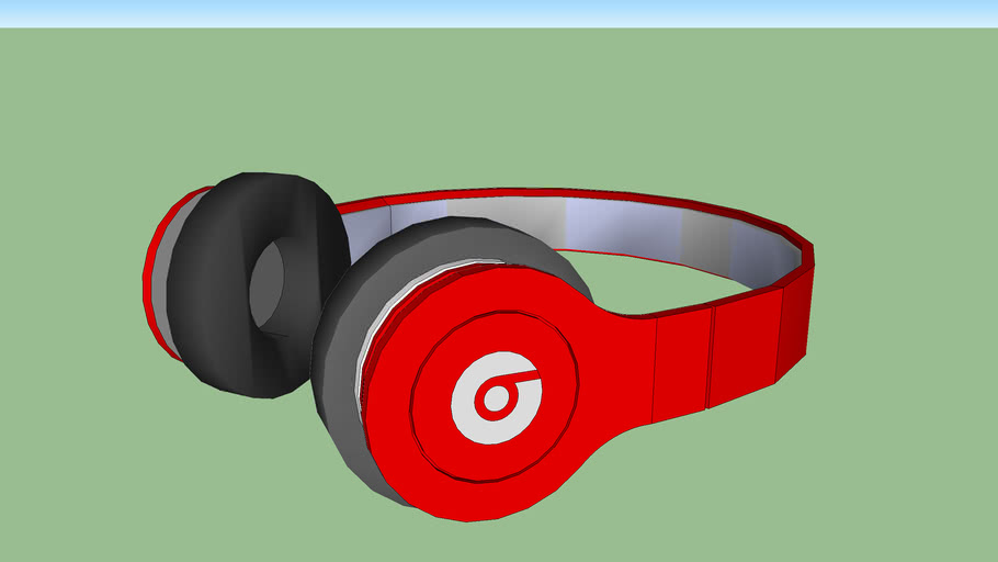 Beats By Dr Dre Solo Headphones Red Made By Lewis071 3d Warehouse