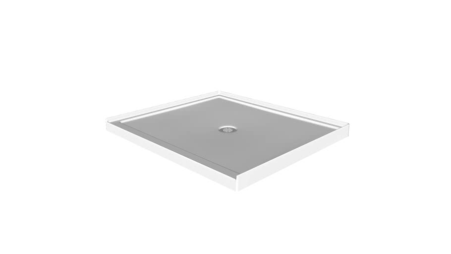 "K-8648 Rely(R) 48"" x 42"" single-threshold shower base with center drain"