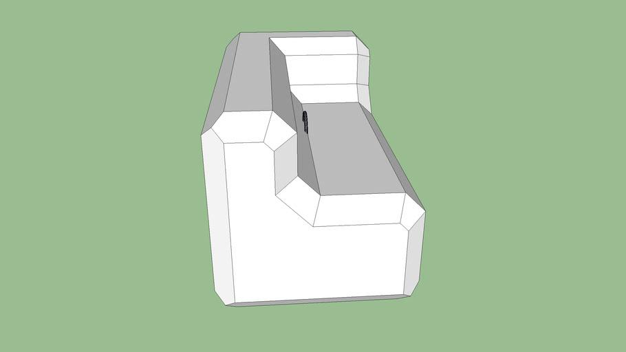 Ultra Block Bench Left Corner