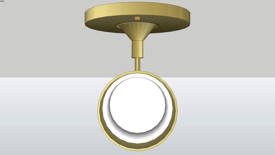 Schoolhouse Astrid Sconce - Natural Brass