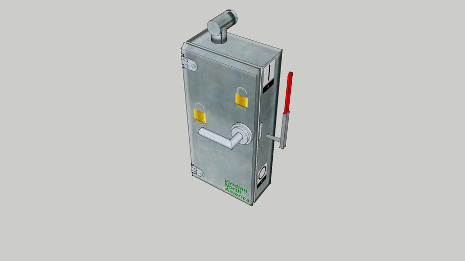 Electrical Cutoff Box with knife switch