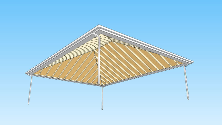 Hip Rafter Roof - With Framing
