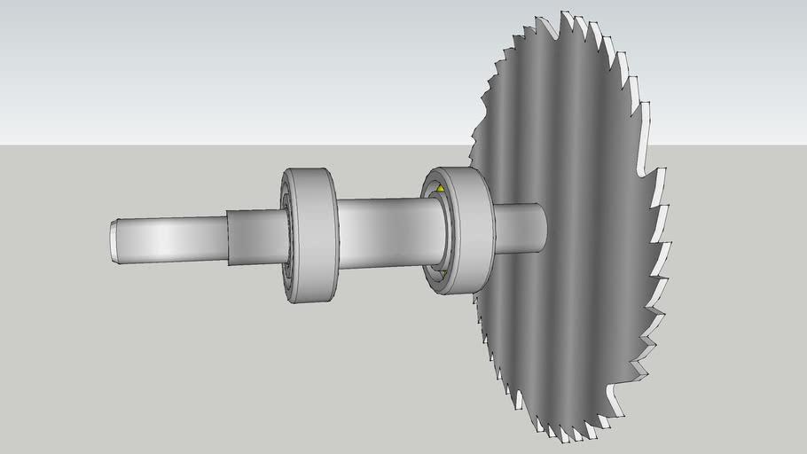 Shaft bearing Saw blade