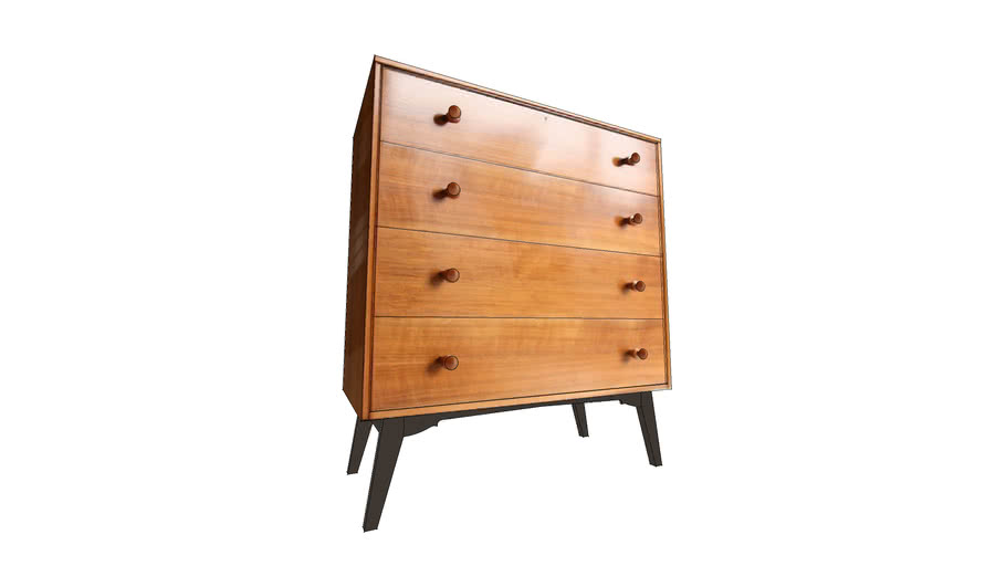 1950s Walnut Chest of Drawers