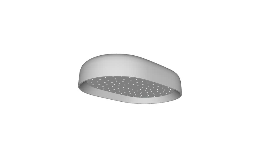 "K-26293 10"" Oval  Single Function Rainhead, Hi Flow (2.5 gpm/ 9.5 lpm)"