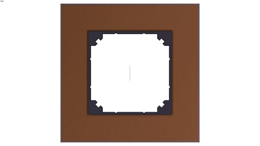 Real glass frame, 1-gang, Mahogany brown