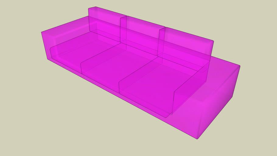 sofa transparent rose fluo !