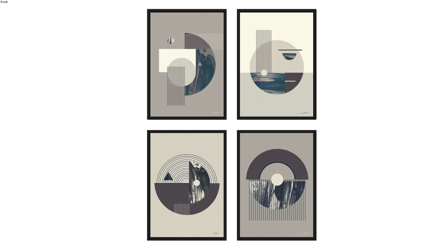 Quadros Harmonia I, II, III e IV
