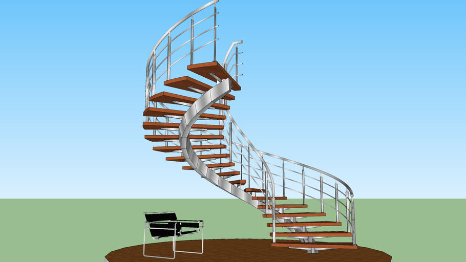 Spiral stair- scala elicoidale