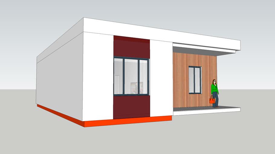 Одноэтажный дом хай-тек