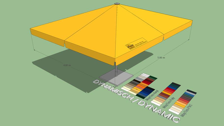 May Schattello 4x5m Rectangle Market Umbrella