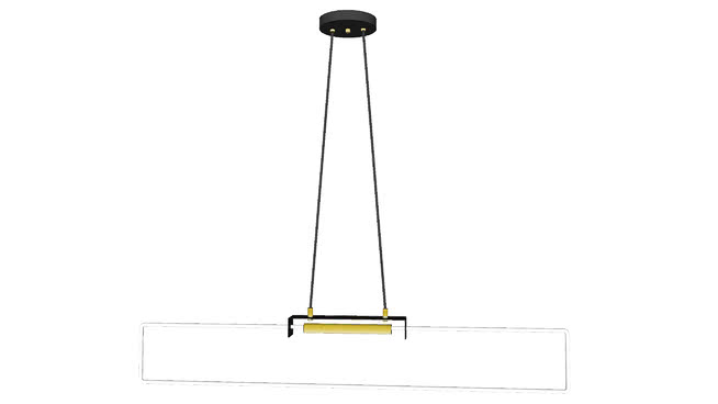 RA Pendant by d'Armes (black w/ brass finish)