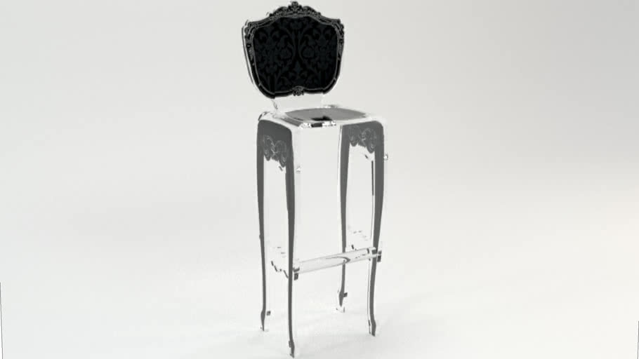 TABOURET BAROQUE NOIR Acrila Furniture