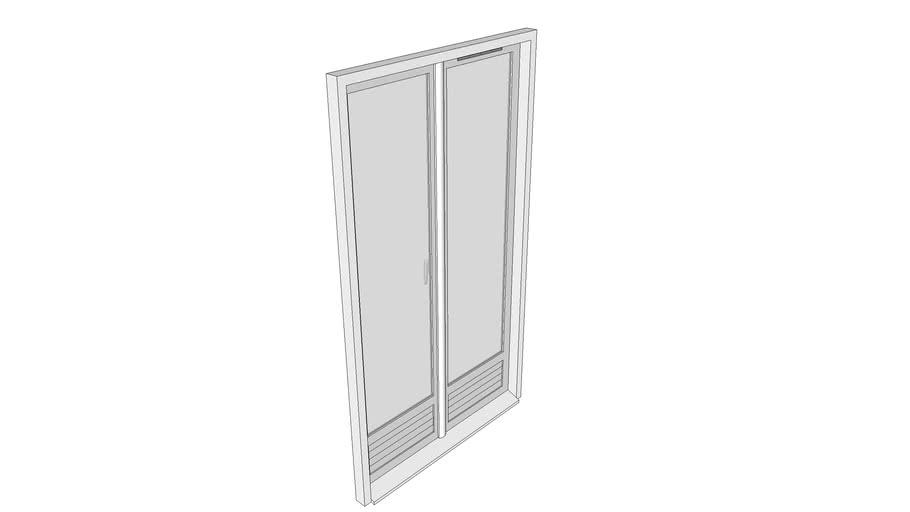 Fenêtre porte fenêtre à deux ouvrants