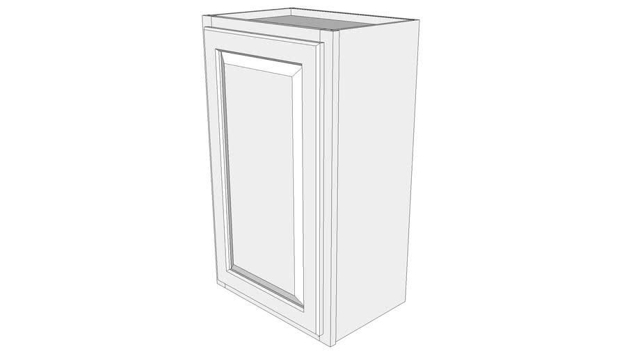 """Briarwood Wall Cabinet W1830 - 12"""" Deep, One Door"""