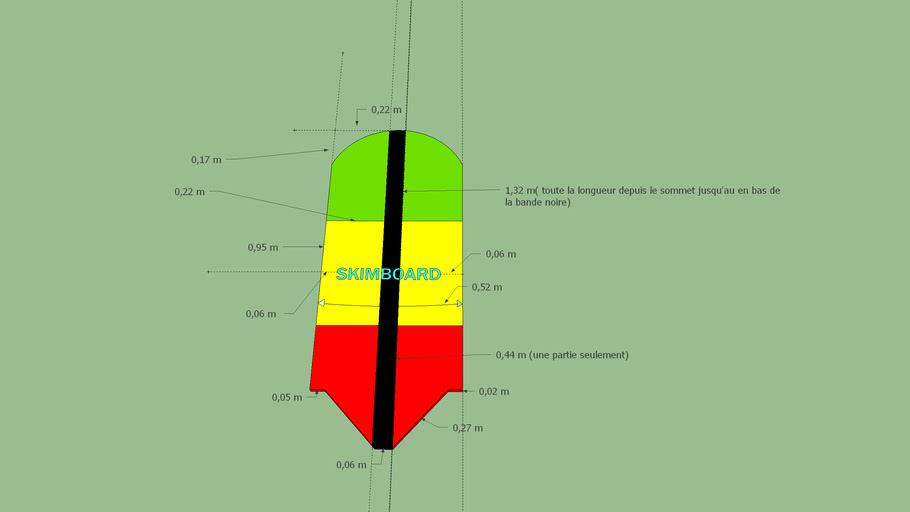 Skimboard dimensions