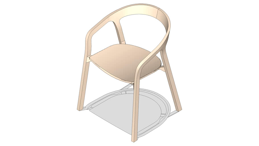 2D1/2 Herman Miller She Said Chair LOW POLY