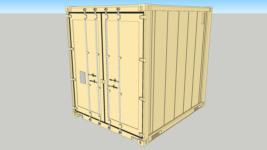 Reefer ver.A - 10ft High Cube Container   3D Warehouse
