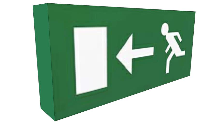 Fire Exit Sign - Exit Left