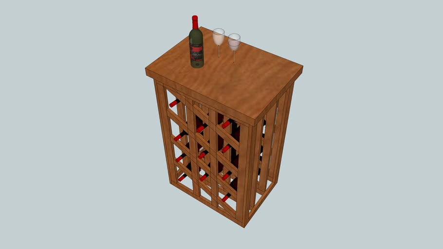 Cheese table with wine rack