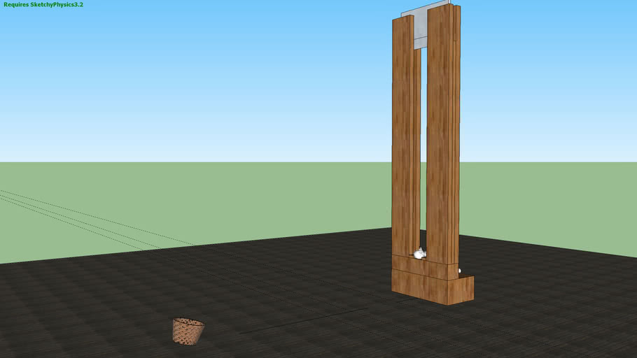 Bask-head-ball Guillotine sketchyphysics 3 point version