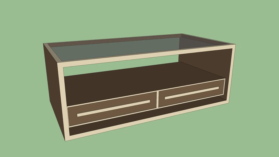 Table basse moderne avec plateau de verre