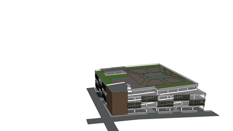 Parking Building with vertical garden