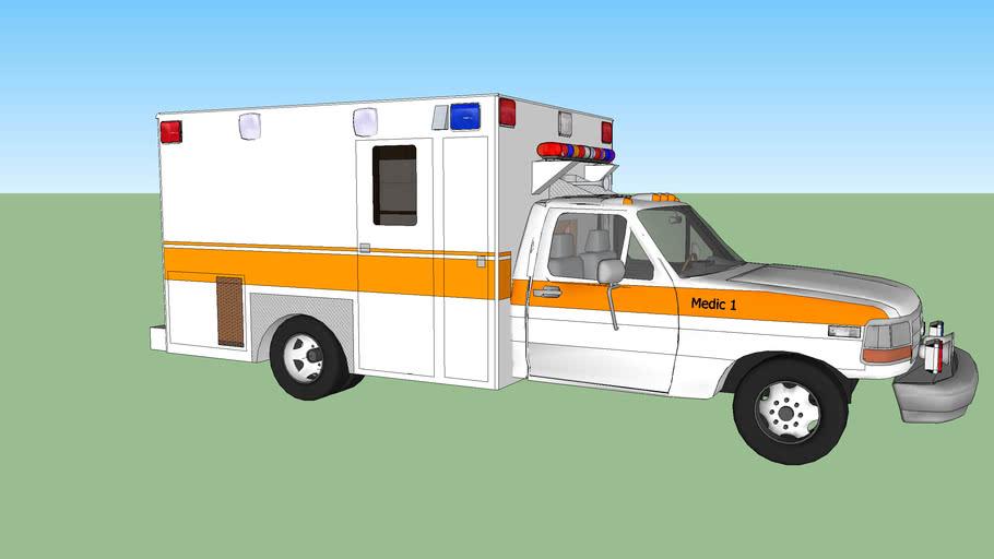 ambulance type l ford f350 model 1993